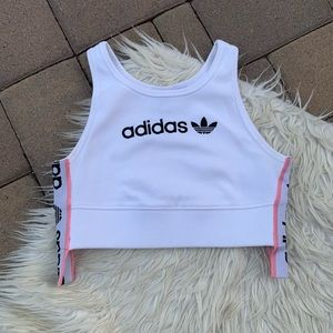 Adidas Originals Ribbed Bra Top Size Small